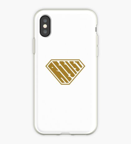 Resist SuperEmpowered (Gold) iPhone Case