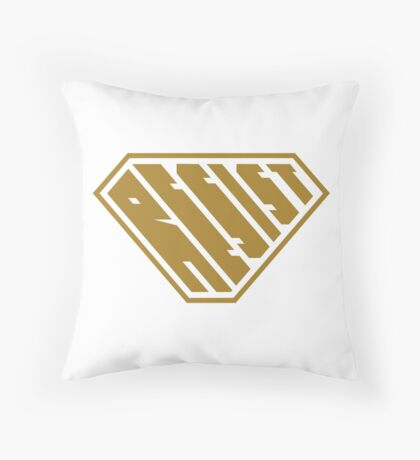 Resist SuperEmpowered (Gold) Throw Pillow
