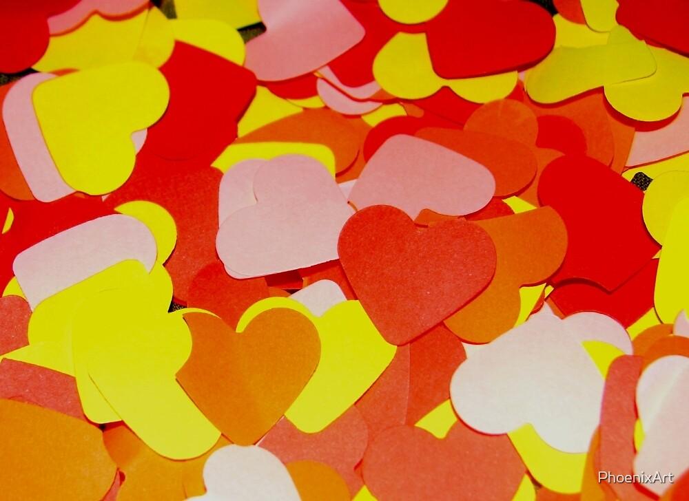 Coloured Hearts by PhoenixArt