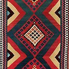 Qashqa'i  Antique Fars Persian Kilim by Vicky Brago-Mitchell