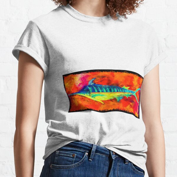 Blue Marlin - Anchored By Fin Classic T-Shirt