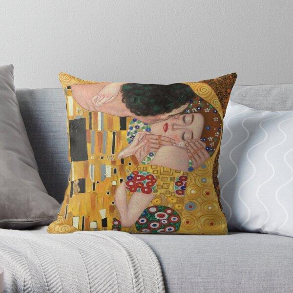 Gustav Klimt le baiser peinture Coussin