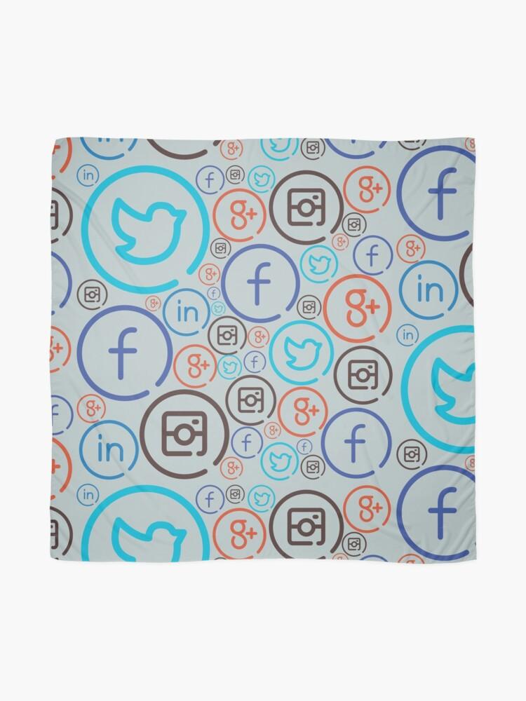 Alternate view of Social Media Crazy Scarf