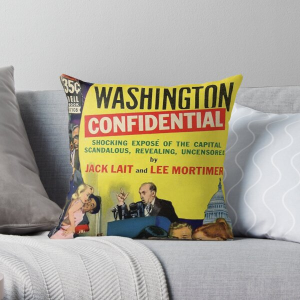 Washington Confidential Throw Pillow