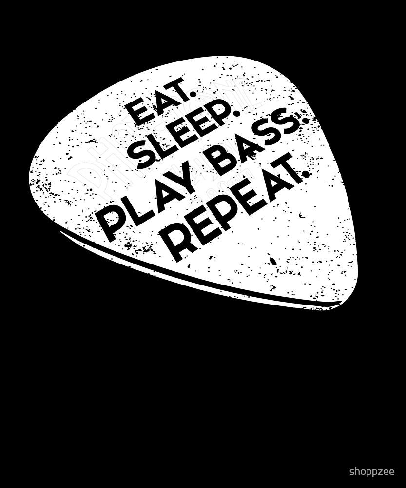 Funny Bass Player Shirt Eat. Sleep. Play Bass. Repeat by shoppzee