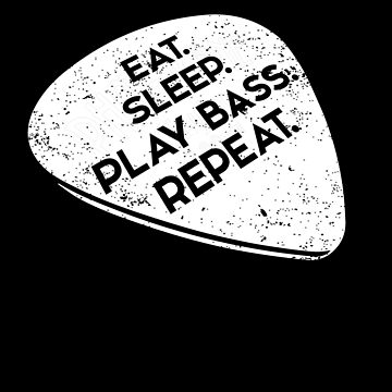 Funny Bass Player Shirt Eat. Sleep. Play Bass. Repeat by shoppzee