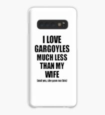 Gargoyles Husband Funny Valentine Gift Idea For My Hubby From Wife I Love Case/Skin for Samsung Galaxy
