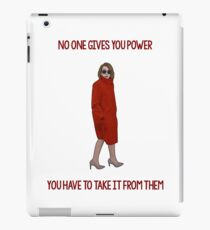 Nancy Pelosi Power iPad Case/Skin