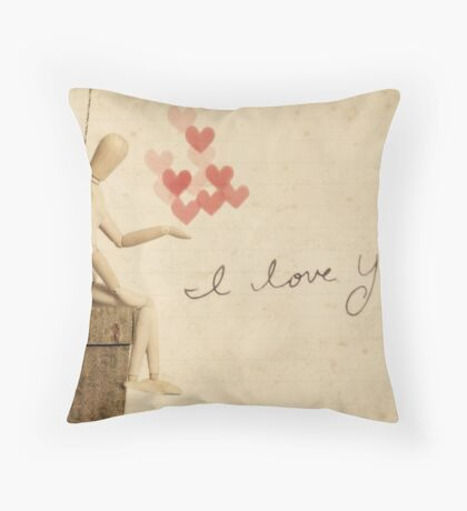 i carried you in my heart... Throw Pillow