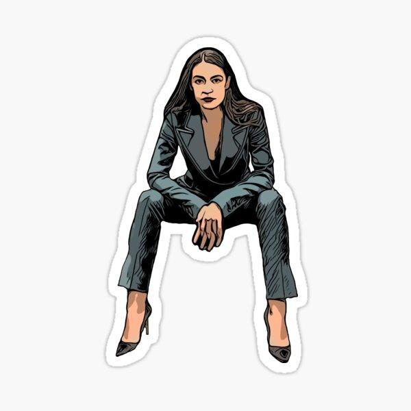 Alexandria Ocasio Cortez Killing it Sticker