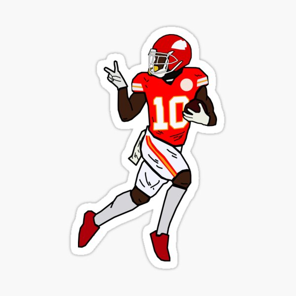 Tyreek Hill Funny Look Back Touchdown Celebration - Kansas City Chiefs Sticker
