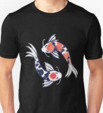 Wirbelnder Koi Slim Fit T-Shirt