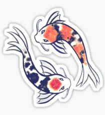 Swirling Koi Sticker