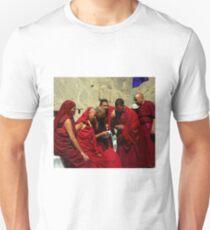 Monks outside the Lamayuru monsatery Unisex T-Shirt