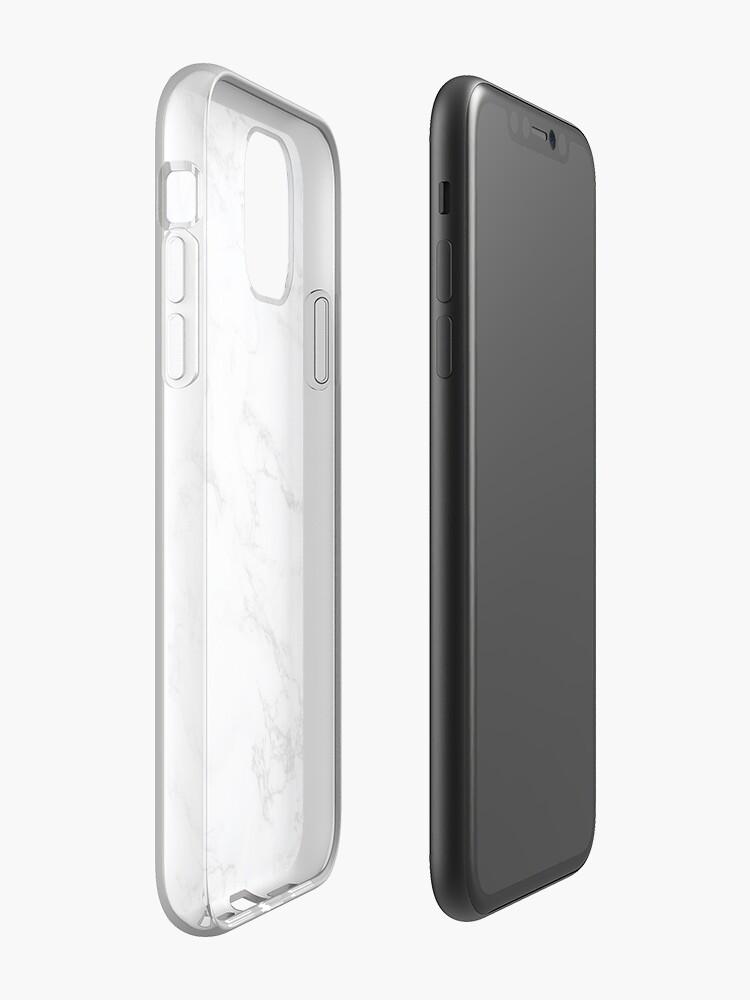 Coque iPhone «Marbre lisse blanc», par umkarasu
