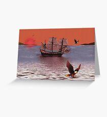 Sunset At Eagle Bay Greeting Card