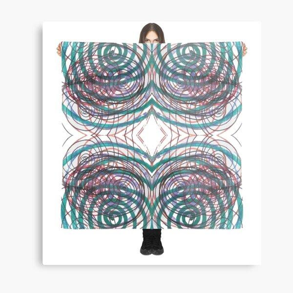 #illustration, #pattern, #abstract, #art, #design, #decoration, #scribble, #ornate Metal Print