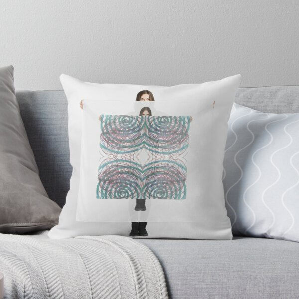 #illustration, #pattern, #abstract, #art, #design, #decoration, #scribble, #ornate Throw Pillow