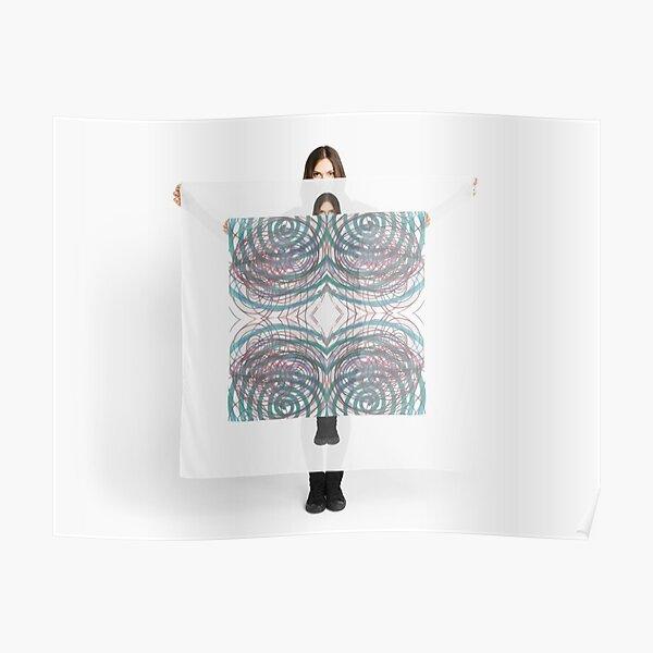 #illustration, #pattern, #abstract, #art, #design, #decoration, #scribble, #ornate Poster