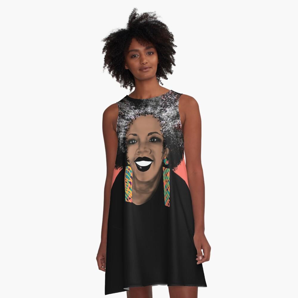 ME- Living Coral  A-Line Dress