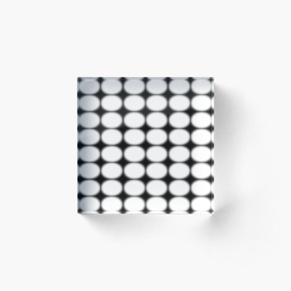 #abstract, #pattern, #design, #illusion, #art, #bright, #square, #shape Acrylic Block