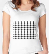 #abstract, #pattern, #design, #illusion, #art, #bright, #square, #shape Fitted Scoop T-Shirt