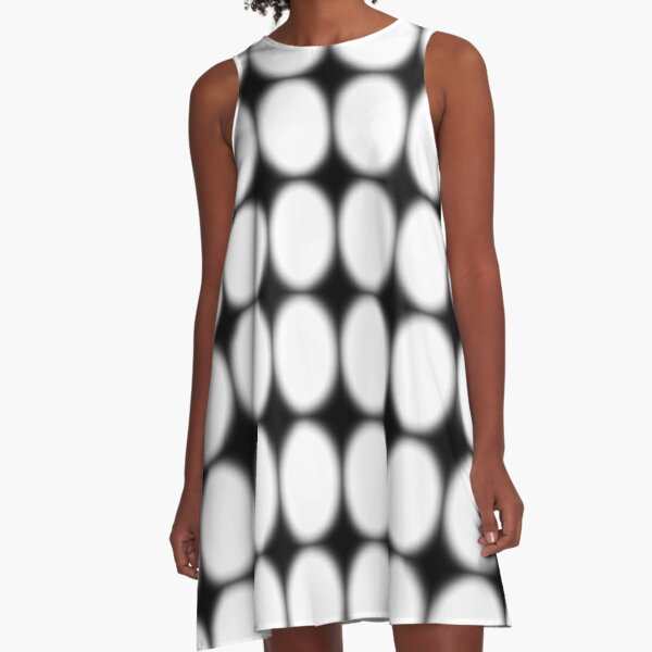 #abstract, #pattern, #design, #illusion, #art, #bright, #square, #shape A-Line Dress