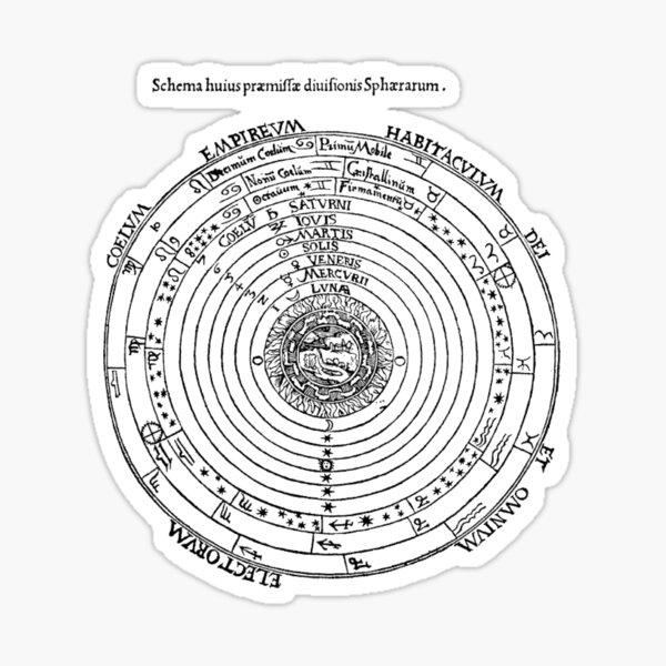 #Diagrams of the #cosmos according to Petrus #Apianus, #Cosmographi  Sticker