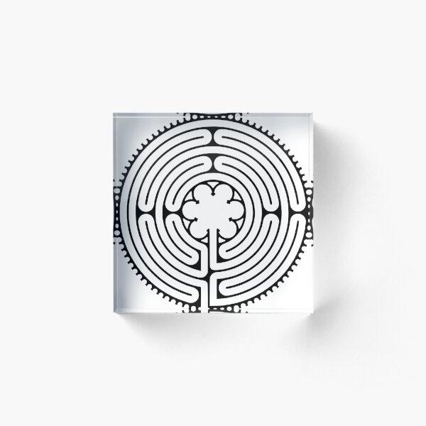 #blackandwhite, #text, #circle, #vector, #illustration, #design, #shape, #symbol, #drawing Acrylic Block