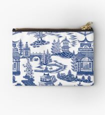 Ming China - Blue And White Chinoiserie Studio Pouch