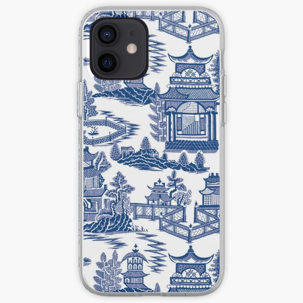 Blue Willow Ancient Ming China - Blue And White Chinoiserie  iPhone Soft Case