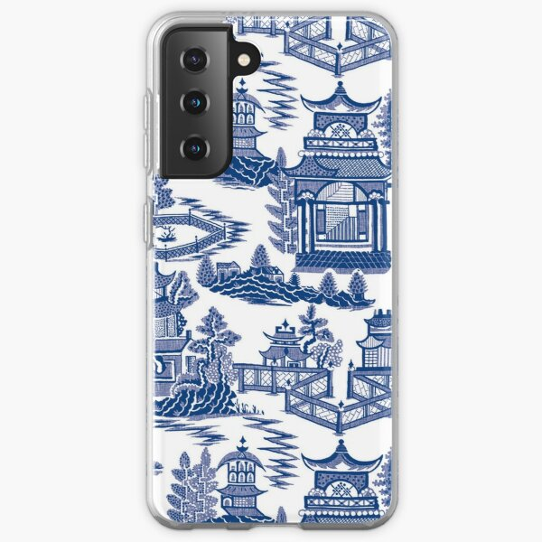 Blue Willow Ancient Ming China - Blue And White Chinoiserie  Samsung Galaxy Soft Case