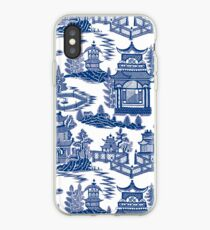 Ming China - Blue And White Chinoiserie iPhone Case