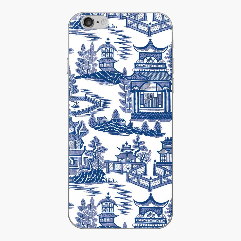 Blue Willow Ancient Ming China - Blue And White Chinoiserie  iPhone Skin