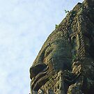 One of the 4 faces of a bayon tower by Ritu Lahiri