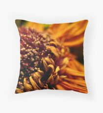 Dried Sunflower Throw Pillow