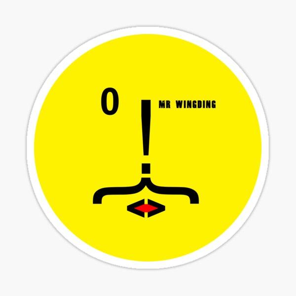 Mr Wingding - Moustache Sticker