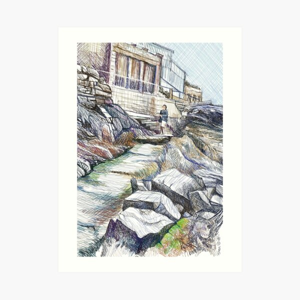 Rocky Path Art Print