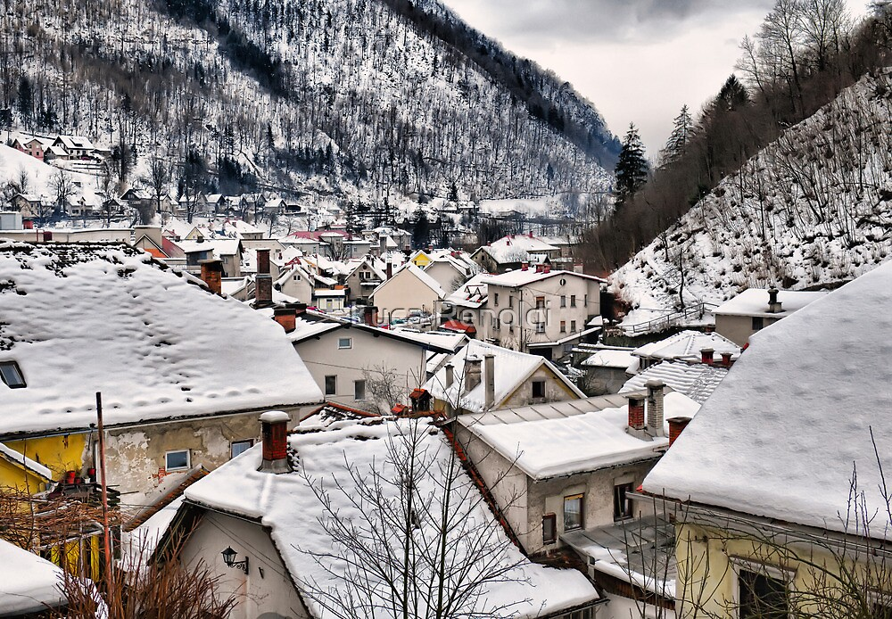 Roofs at Tržič by Luca Renoldi