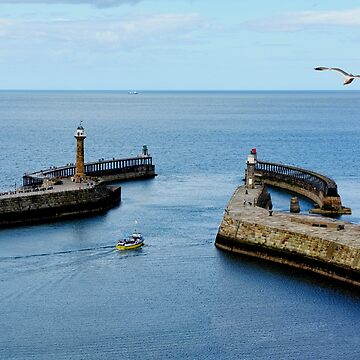 Whitby Harbour entrance by Retiree