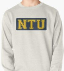 Nanyang Technological University (NTU) in blue and yellow Pullover Sweatshirt