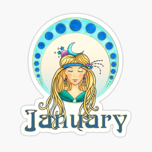 Lady January Sticker