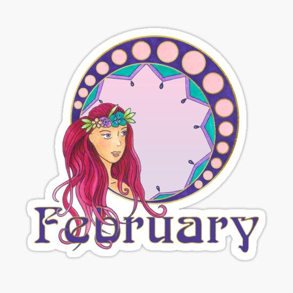 Lady February Sticker