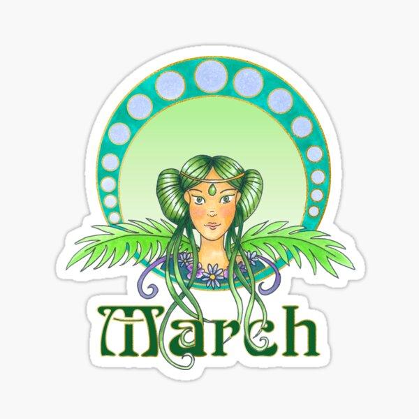 Lady March Sticker