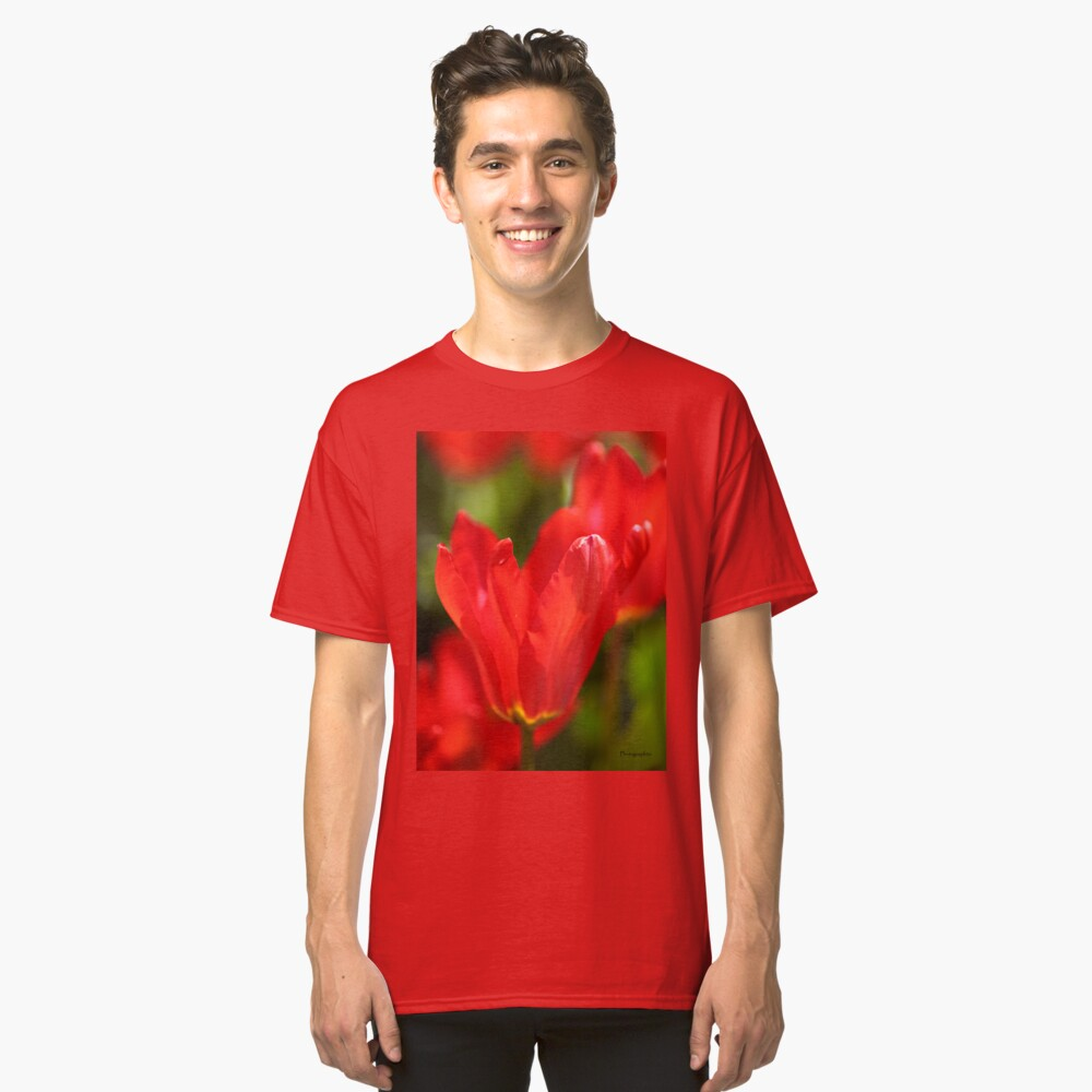 Red Tulips Classic T-Shirt Front