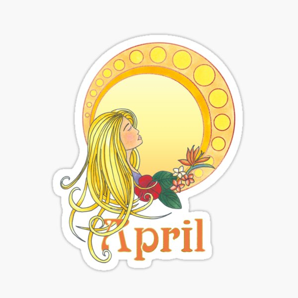 Lady April Sticker