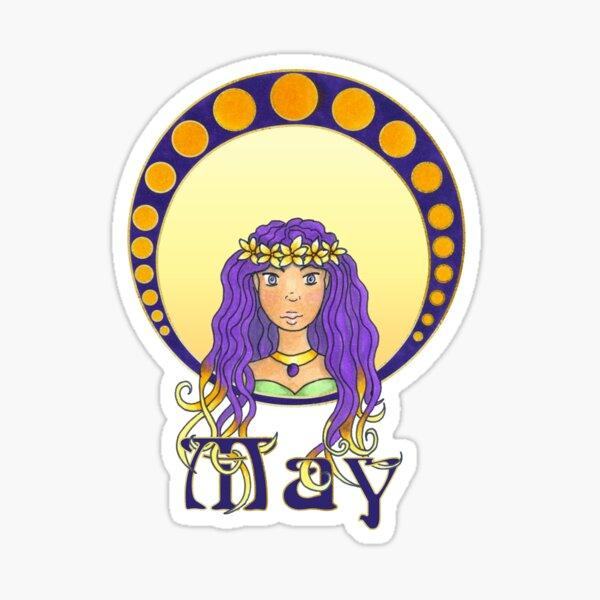 Lady May Sticker