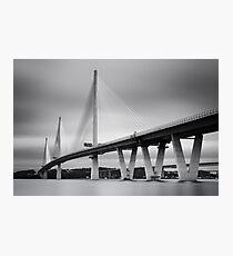 Queensferry Crossing Bridge mono  Photographic Print