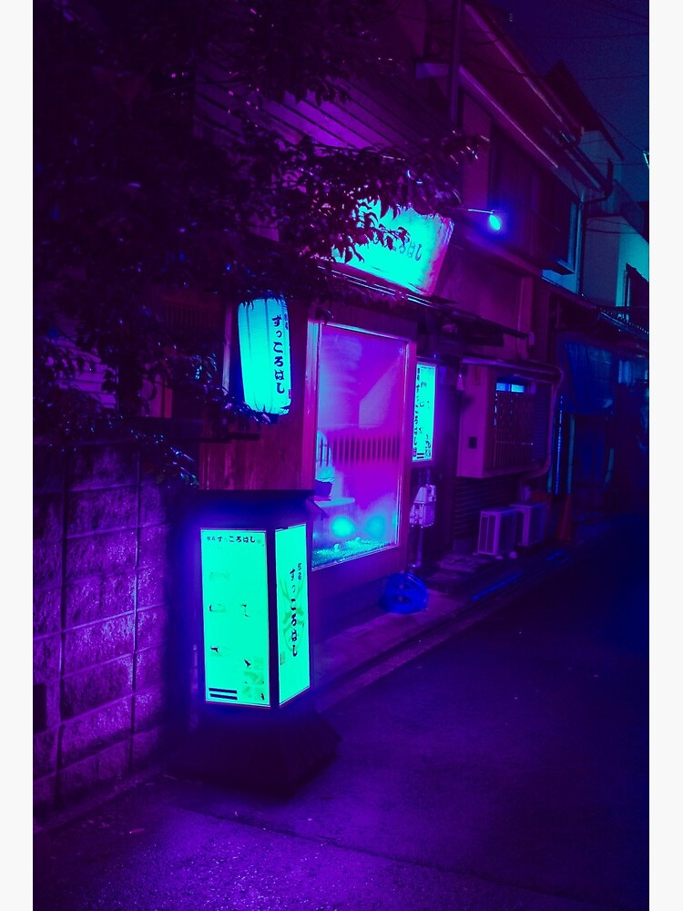 Aesthetic Purple Neon Japan Art Board Print By Karizzle Redbubble