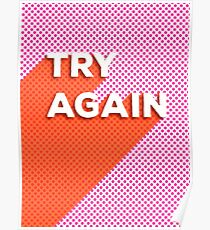 TRY AGAIN - typography Poster
